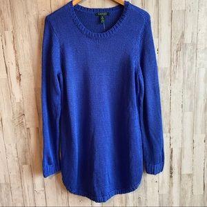 Lauren Ralph Lauren Cotton Cable Crew Neck Sweater